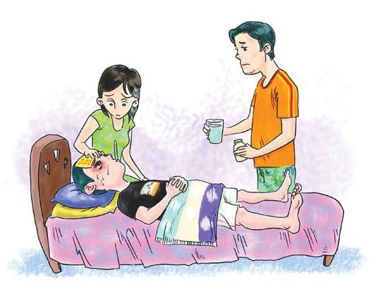 发烧的卡通可爱图片